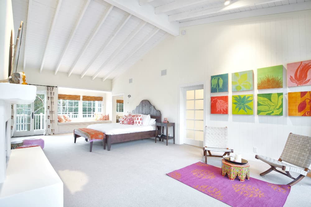 Bedroom in Olivia Newton-John's Former Ranch-Style home