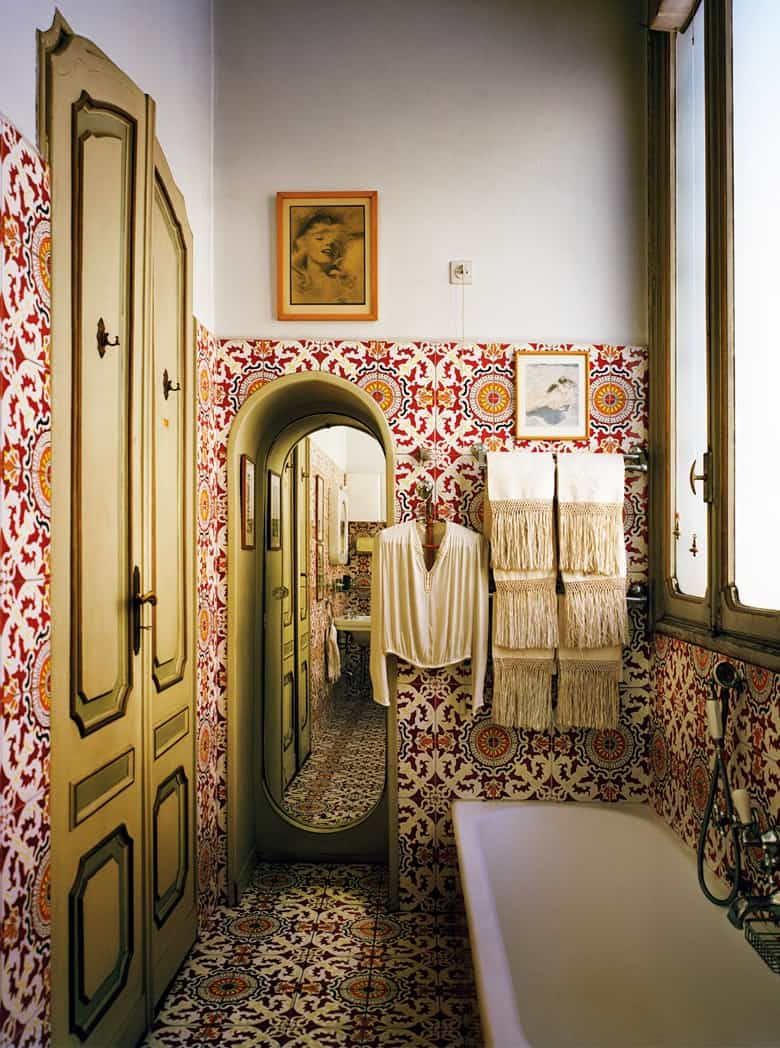 Carlo Mollino's bathroom design in Turin, Italy