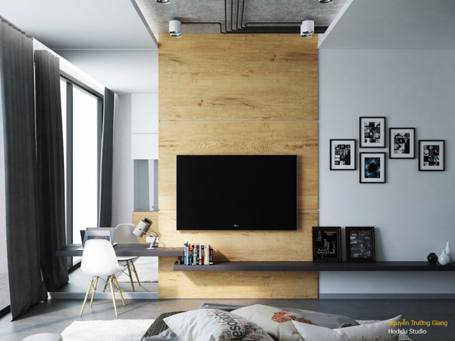 Bedroom TV Wall By Nh Dng Hong