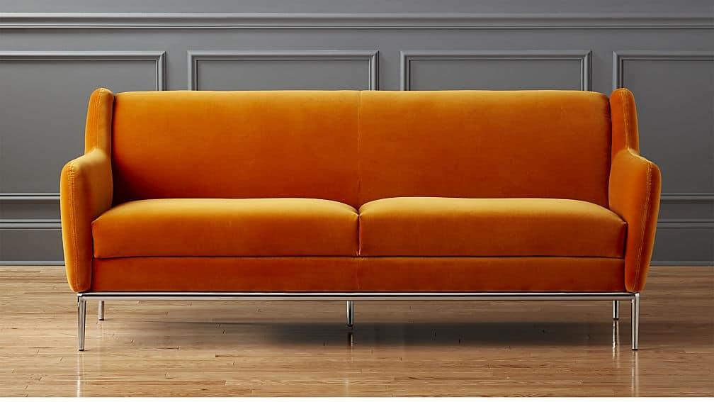 Alfred Amber Velvet Sofa from CB2