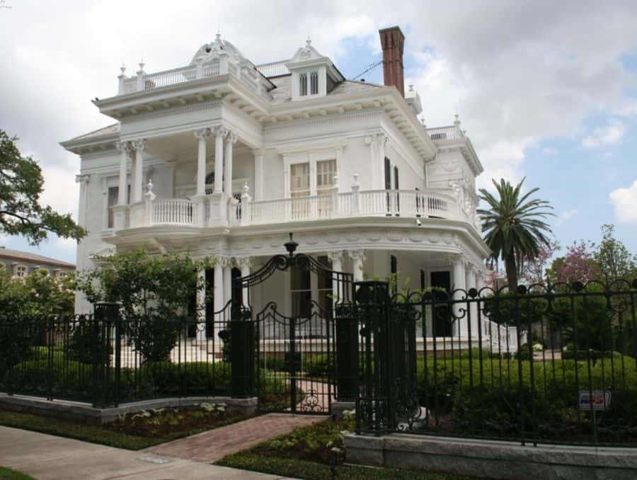 This white color isn't a traditional choice for a Victorian but it lets the architecture speak for itself.