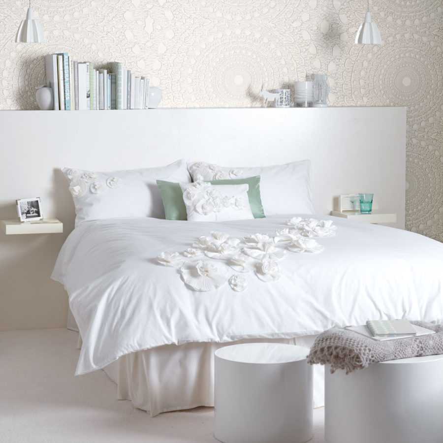 white bedroom It's All About Texture 900x900 Simple yet Lovely Ideas for a White Room