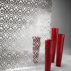 Decorative Sheet Metal Partition by De Castelli