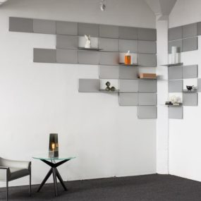 Folding Shelves by Lake and Wells