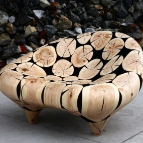 Wooden Sphere Furniture Series by Lee JaeHyo