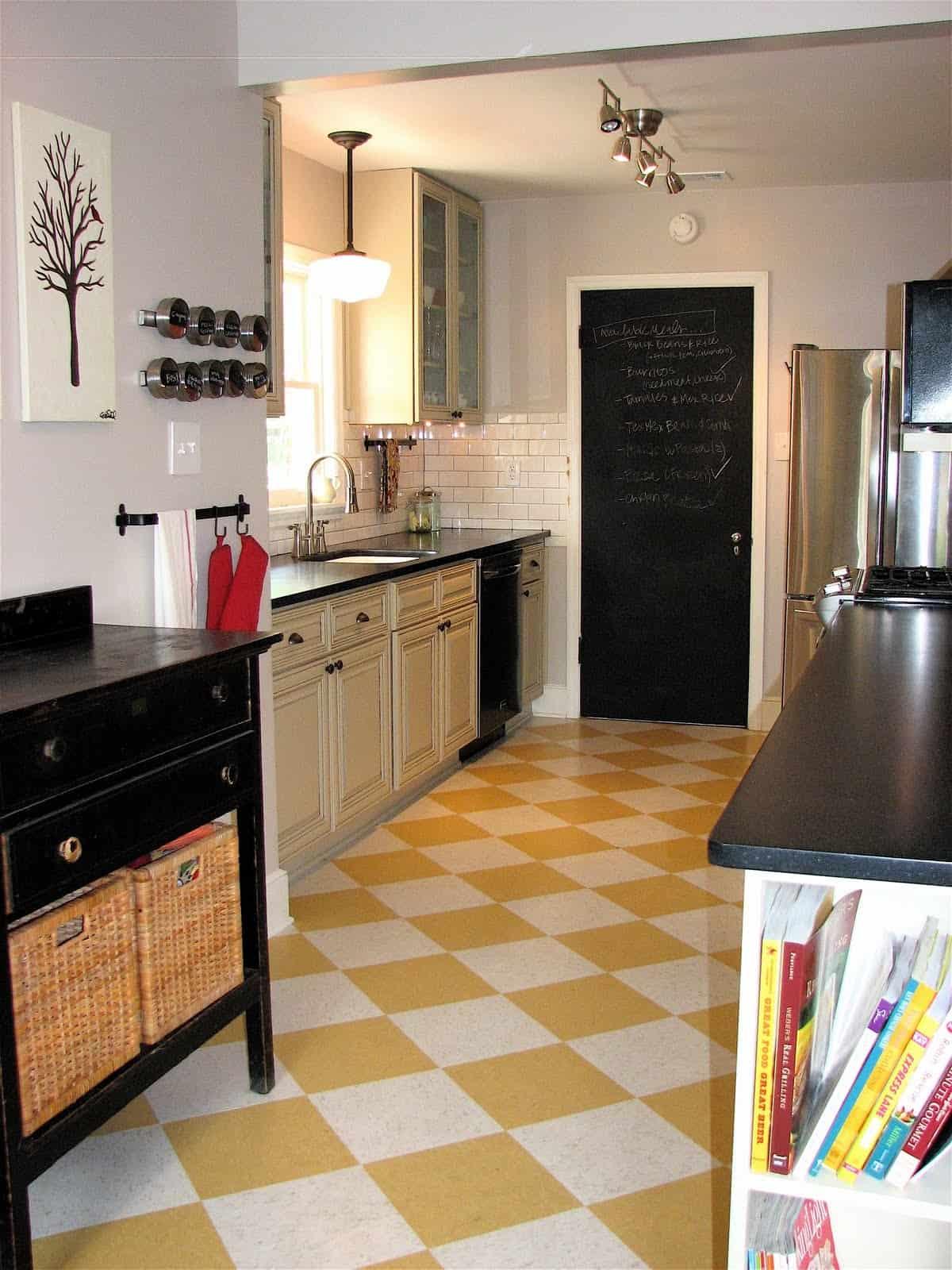 view in gallery - Simple Kitchen Floor Tiles