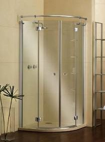 Elite Semicircular frameless shower enclosure by PDPlan