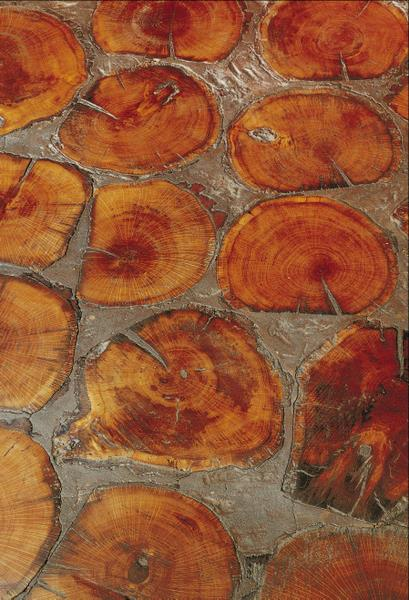 Cobbleblock Tree Rounds Flooring by Birger Juell   the down to earth floors