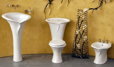 Calia bathroom suite from Capizzi   Calla Lily inspired