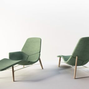Fabric Lounge Chair: Atoll by Patrick Norguet