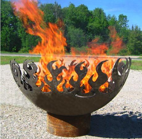 Artistic Firepit by John T. Unger   Recycled Steel Fire Pits