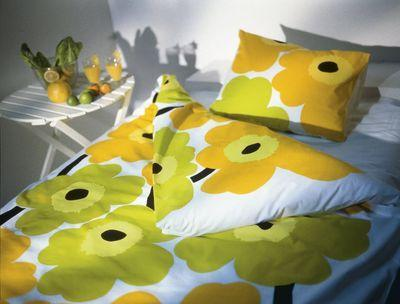 Marimekko Floral Bedding   the Unikko retro bedding