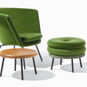 Padded Chairs, Stools and Footstools by Richard Lampert