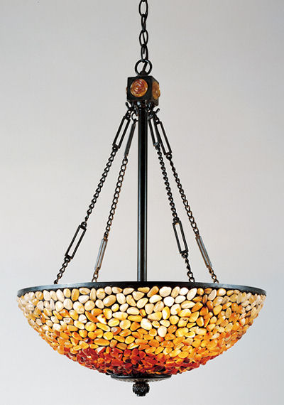 Contemporary Tiffany Pendant from Quoizel Lighting   the Pomez pendant