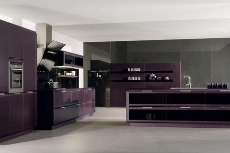 Onda Kitchen by Rational   a darker kitchen can look fabulous