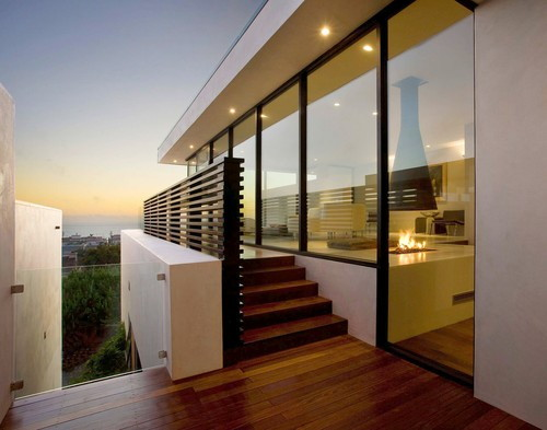 Contemporary Home Design in Manhattan Beach - three-story home ...
