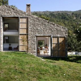 Spanish stable turned contemporary stone home
