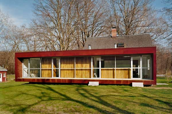 Traditional Cottage with a Modern Addition   Ten Broeck Cottage in Columbia County, NY
